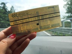 Italian highway toll.